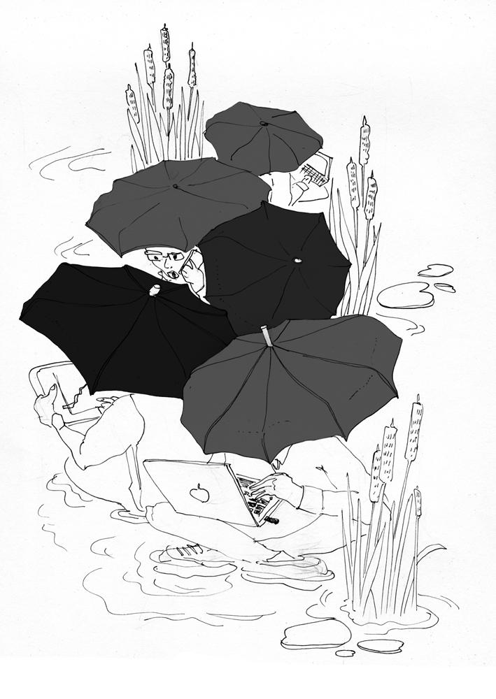 технология есть а ощущение владения технологией нет и все сидят с зонтиками и в луже